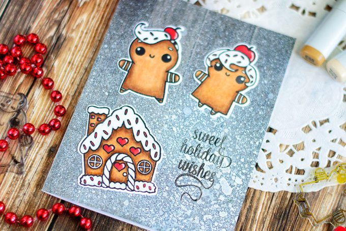 ​ Fun holiday card featuring cute ginger cookies on a wooden table covered with flour. Card by @craftwalks