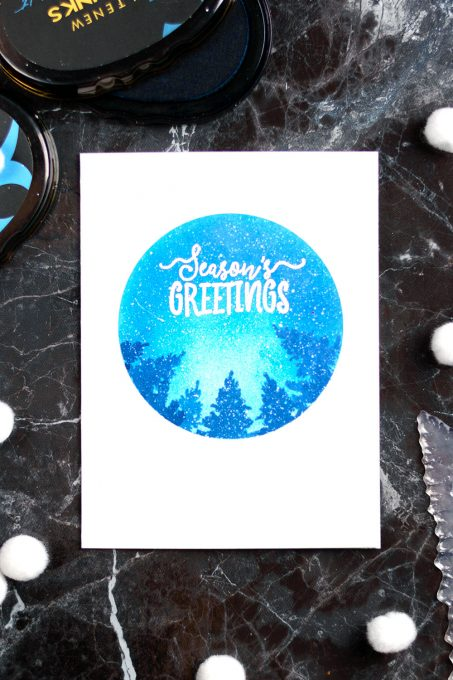 Stretch your Altenew Night Before Christmas Set. Clean and simple one-layer card by @craftwalks