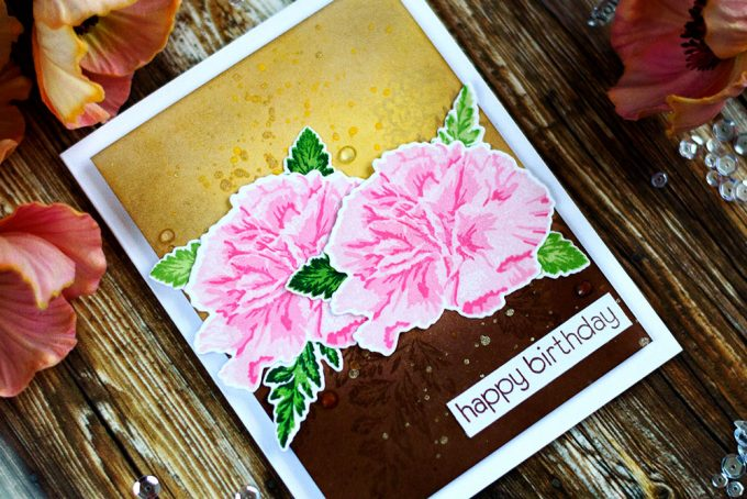 Altenew Build-A-Flower Carnation. Card by @craftwalks