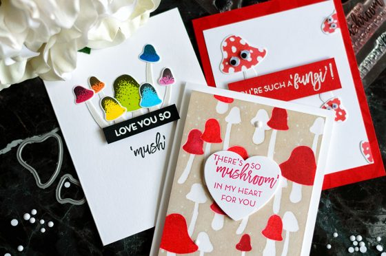Altenew Love You So Mush Stamp Set. Cards by @craftwalks