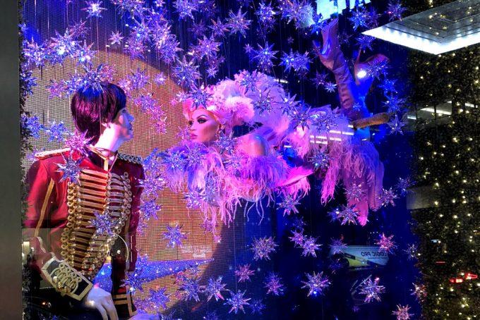 City Walks. Christmas In New York 2017. Bloomingdales holiday windows