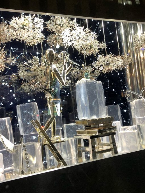 City Walks. Christmas In New York 2017. Tiffany holiday windows