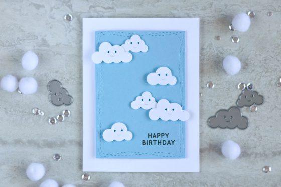 Simon Says Stamp Happy Clouds Die. Card by @craftwalks