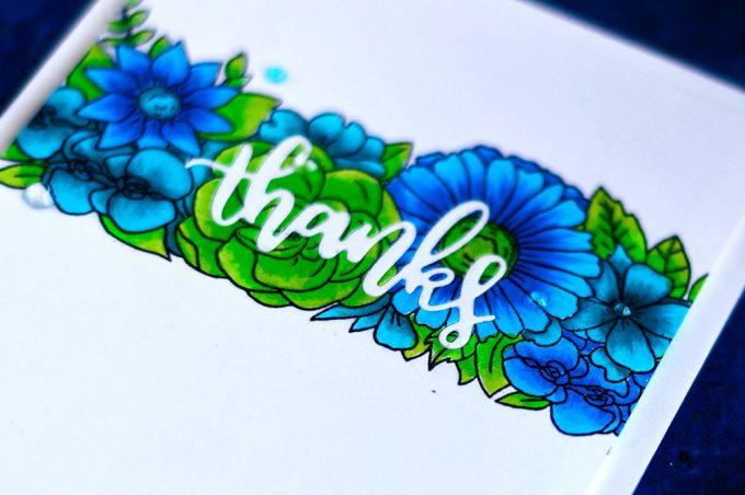 Studio Katia Floral Trimmings die-cut inlay. Card by @craftwalks