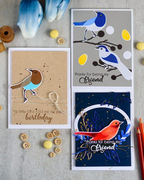 Altenew Birds Of A Feather. Cards by @craftwalks. #card #cardmaking #altenew #birdcard