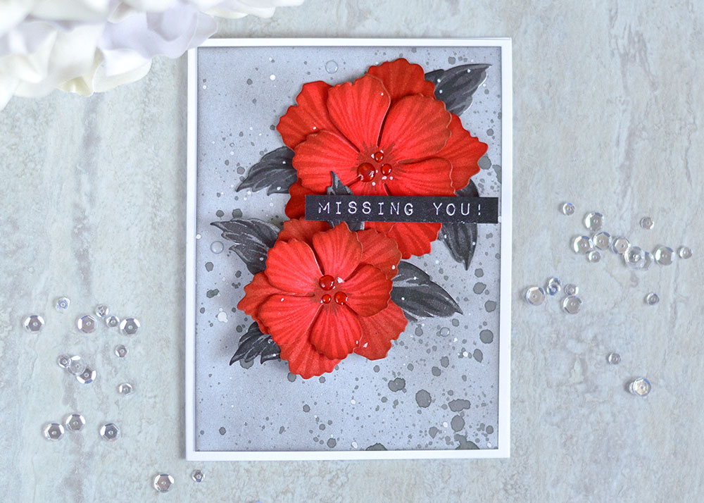 Altenew Build-A-Flower Peony Blossom. Card by @craftwalks. #card #altenew #cardmaking