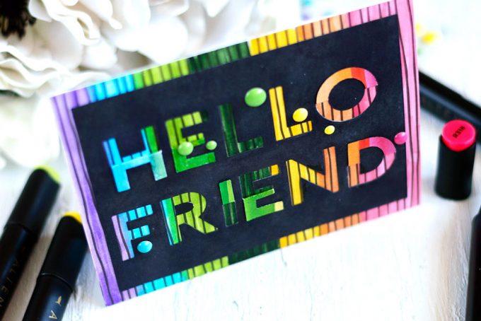 Altenew Flat & Fold Alpha Dies. Card by @craftwalks. #card #cardmaking #handmadecards #altenew #rainbow