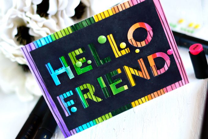 Altenew Flat & Fold Alpha Dies. Card by @craftwalks. #card #cardmaking #handmadecards #altenew #rainbow