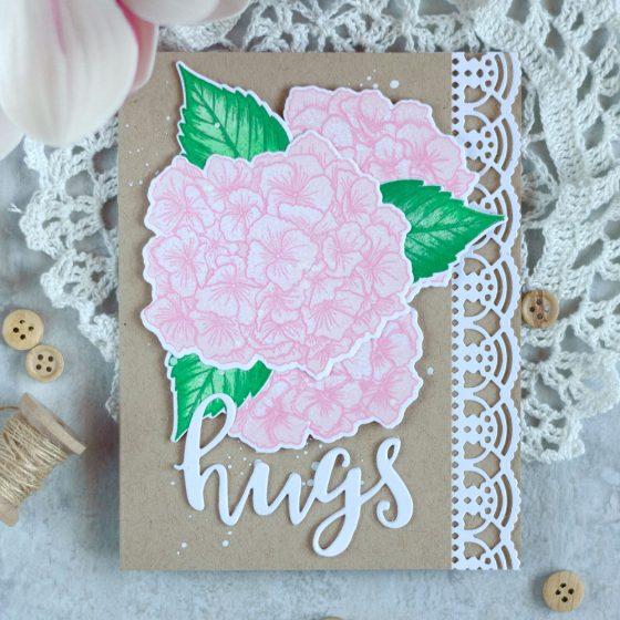 Soft and elegant Altenew Garden Hydrangea. Card by @craftwalks #card #cardmaking #altenew #hydrangea