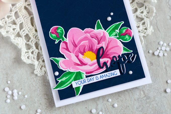 Altenew Hope Stamp Set. Card by @craftwalks. #card #cardmaking #handmadecards #altenew