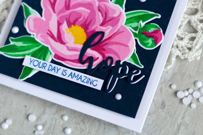 Altenew Hope Stamp Set. Card by @craftwalks. #card #cardmaking #handmadecards #altenew