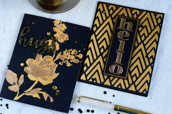 Altenew March Stencil Release. Cards by @craftwalks. #card #cardmaking #altenew #stencil #nuvomousse
