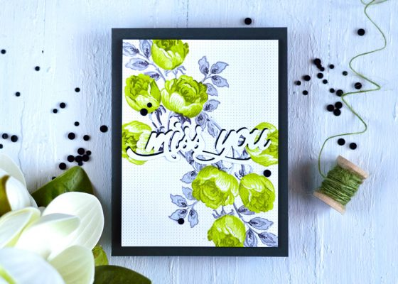 Altenew Faux Stitching with Cross Stitch Cover Die and Sweet Rose Bouquet. Card by @craftwalks. #card #cardmaking #altenew #handmadecards #fauxstitching #crossstitching
