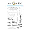 Altenew Sincere Greetings Stamp Set