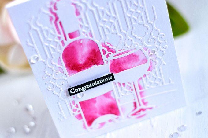 Spellbinders Tine For Wine. Card by @craftwalks. #card #spellbinders #cardmaking #wine #handmadecard