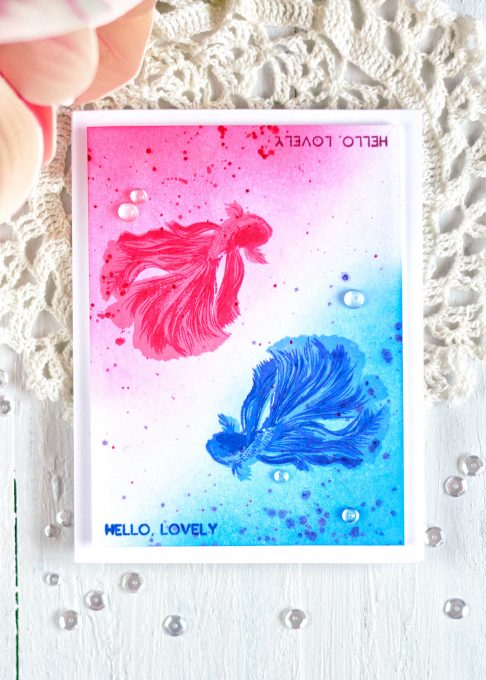 The Ton Beautiful Bettas. Card by @craftwalks #card #theton #tonstamps #cardmaking #bettas #bettafish