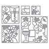 Spellbinders Shapeabilities Wine Snippets Etched Dies