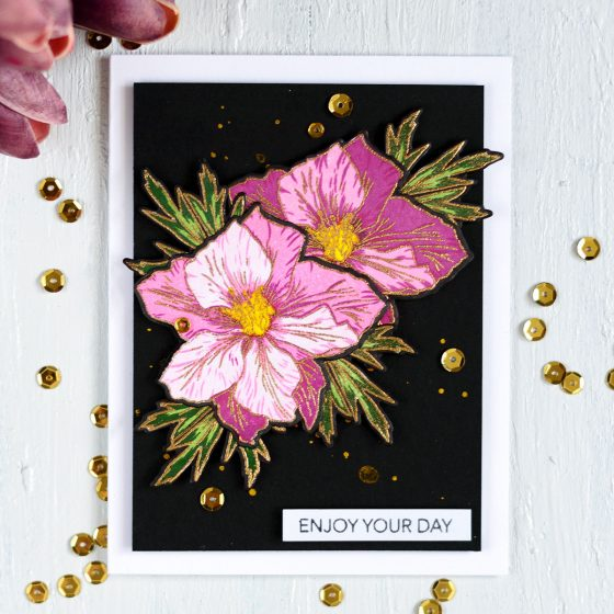 Altenew Build-A-Flower Larkspur. Card by @craftwalks. #card #altenew #cardmaking #papercrafts #handmadecard