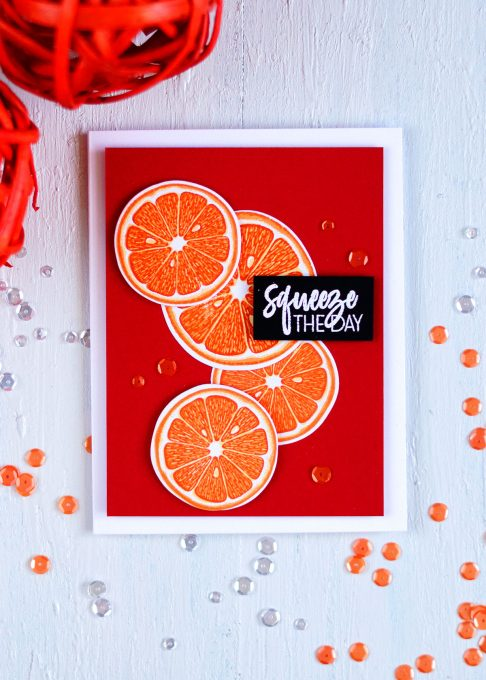 Altenew Main Squeeze. Card by @craftwalks. #card #altenew #cardmaking #handmadecards #papercrafts #citrus #citruscard