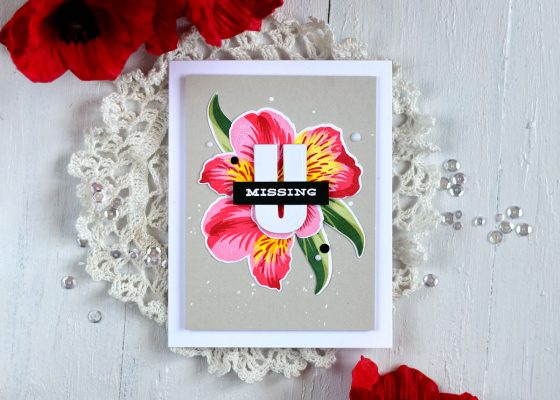 Altenew Build-A-Flower Peruvian Lily. Card by Svitlana Shayevich