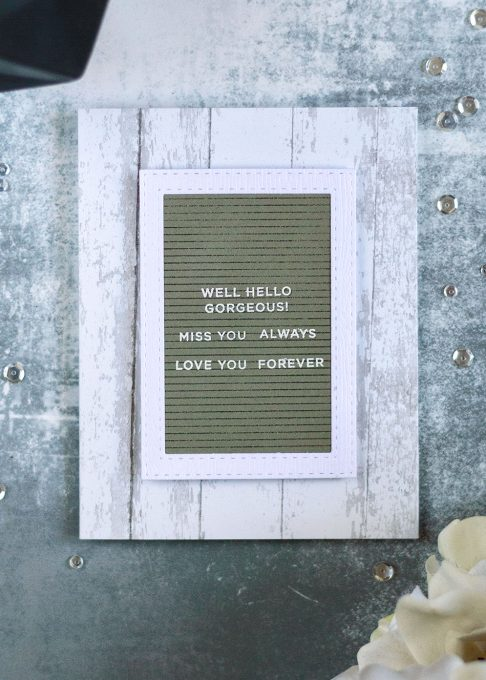Simon Says Stamp CZDesign Tabbed Sentiments. Letter Board. Card by Svitlana Shayevich