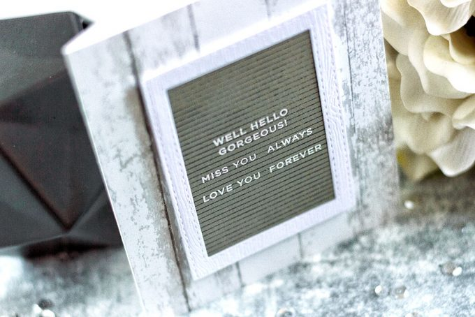 Simon Says Stamp CZDesign Tabbed Sentiments . Letter Board. Card by Svitlana Shayevich