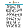 Altenew Floral Alphabet Stamp Set