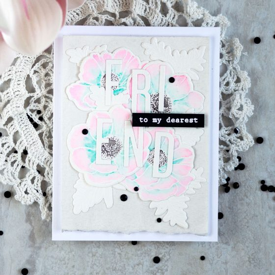 Altenew Build-A-Flower: Anemone Coronaria. Card by Svitlana Shayevich