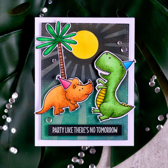 My Favorite Things You're Rawr-some. Party like there is no tomorrow. Card by Svitlana Shayevich