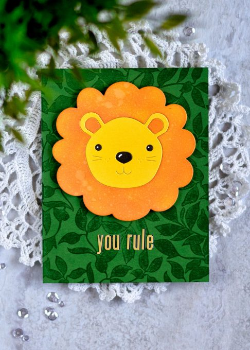 STAMPtember Simon Says Stamp Big Picture Book Lion. Card by Svitlana Shayevich