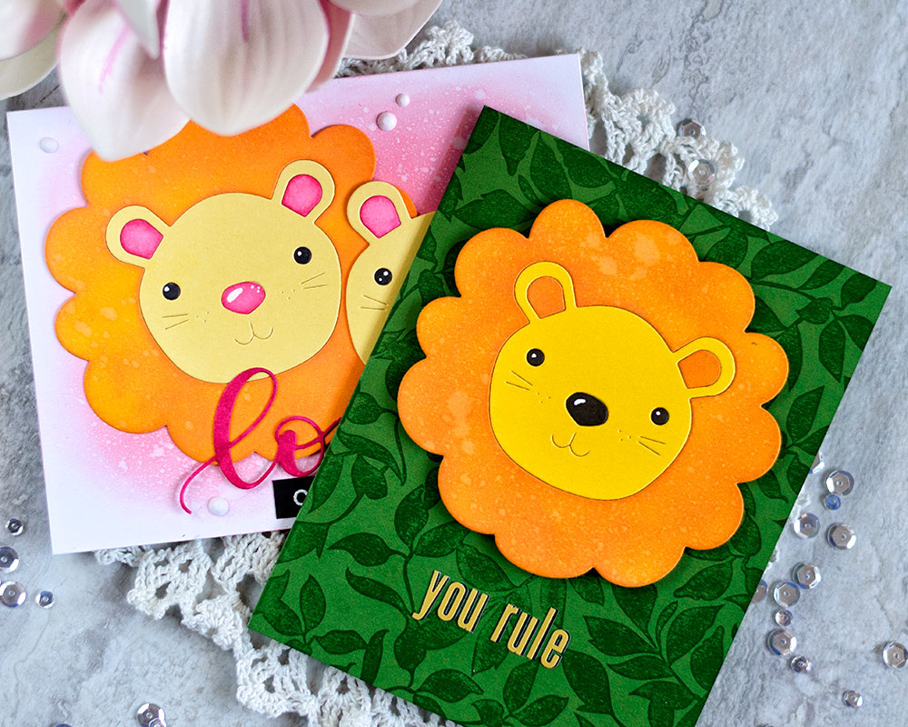 STAMPtember Simon Says Stamp Big Picture Book Lion. Cards by Svitlana Shayevich