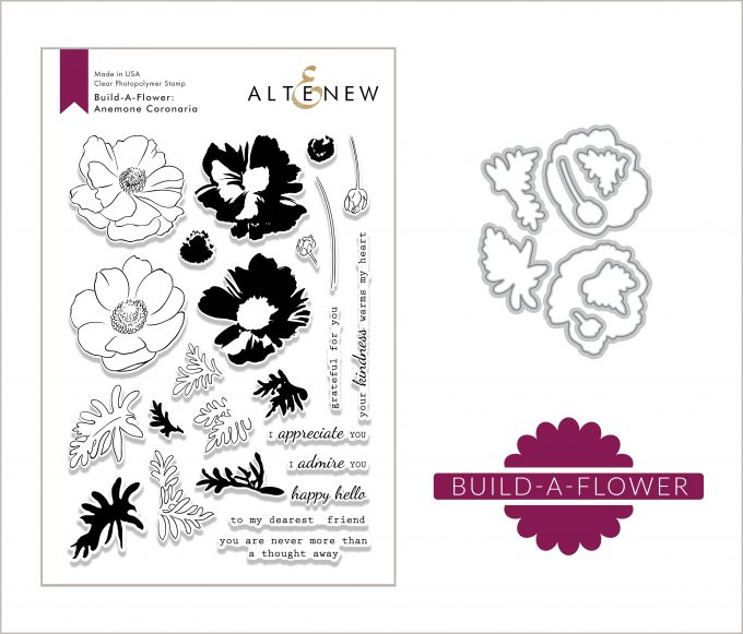 Altenew Build-A-Flower Anemone Coronaria. Card by Svitlana Shayevich
