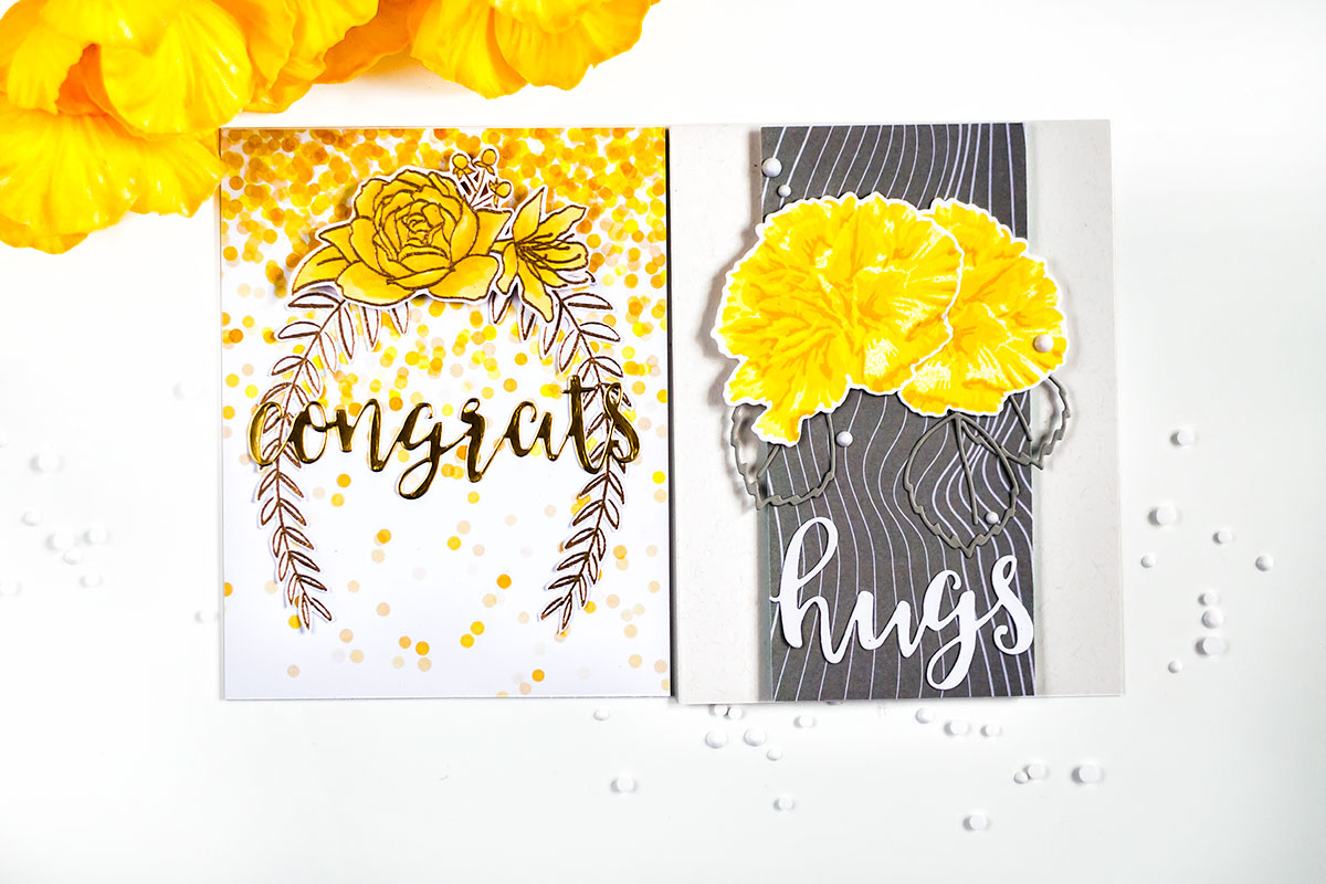 Altenew Celebrations Paper Set. Cards by Svitlana Shayevich