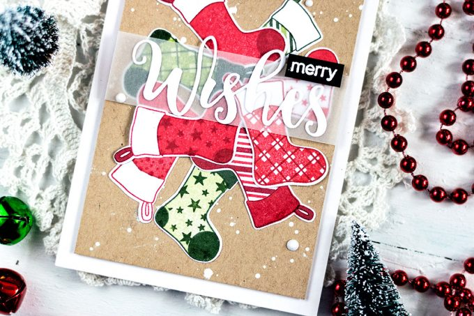 Altenew Christmas Stockings. Card by Svitlana Shayevich