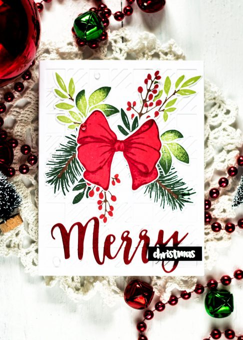Altenew Holiday Bow. Card by Svitlana Shayevich