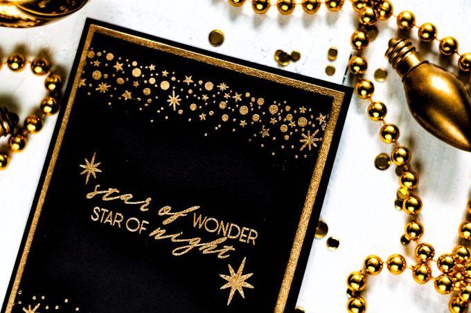 Altenew Starry Night. Gold On Black. Card by Svitlana Shayevich