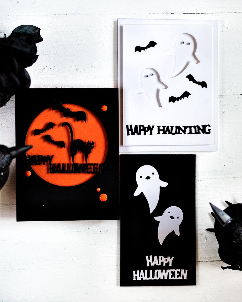 Spellbinders September Small Die Of The Month - 3 Halloween cards