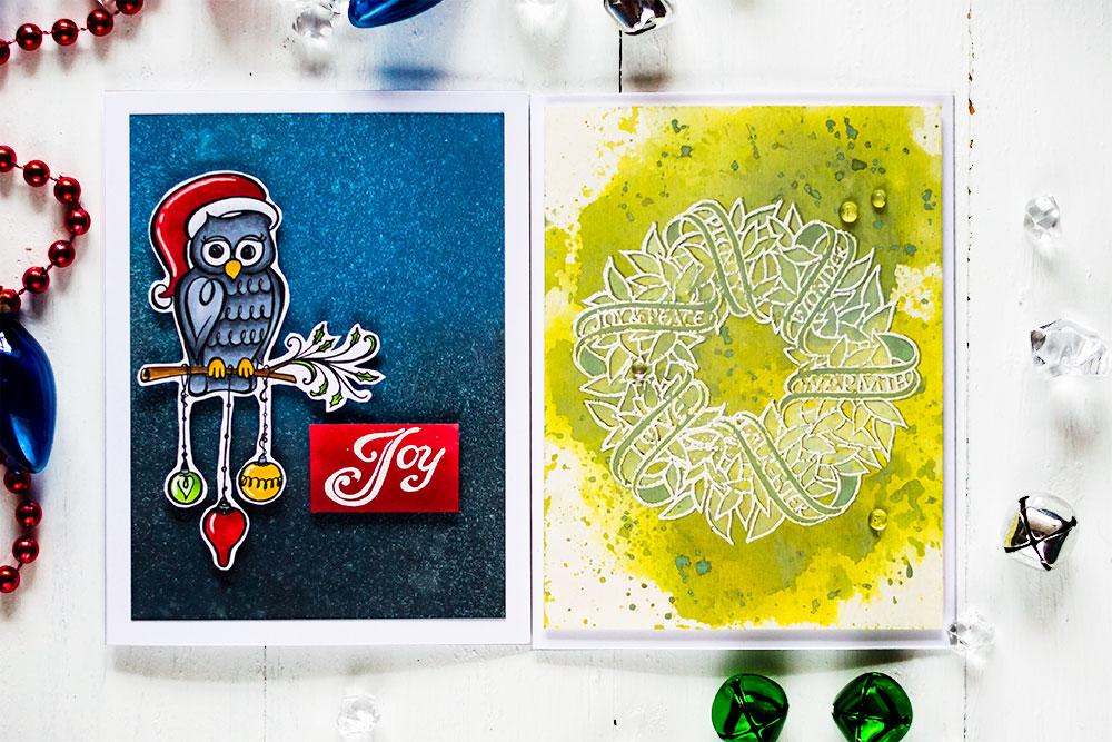 Spellbinders Zenspired Holidays. Cards by Svitlana Shayevich