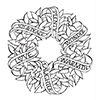 Spellbinders Sentiments Wreath Stamps Zenspired Holidays By Joanne Fink