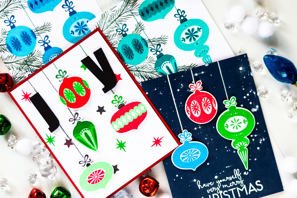 Altenew Stamp Focus Brilliant Baubles. Cards by Svitlana Shayevich