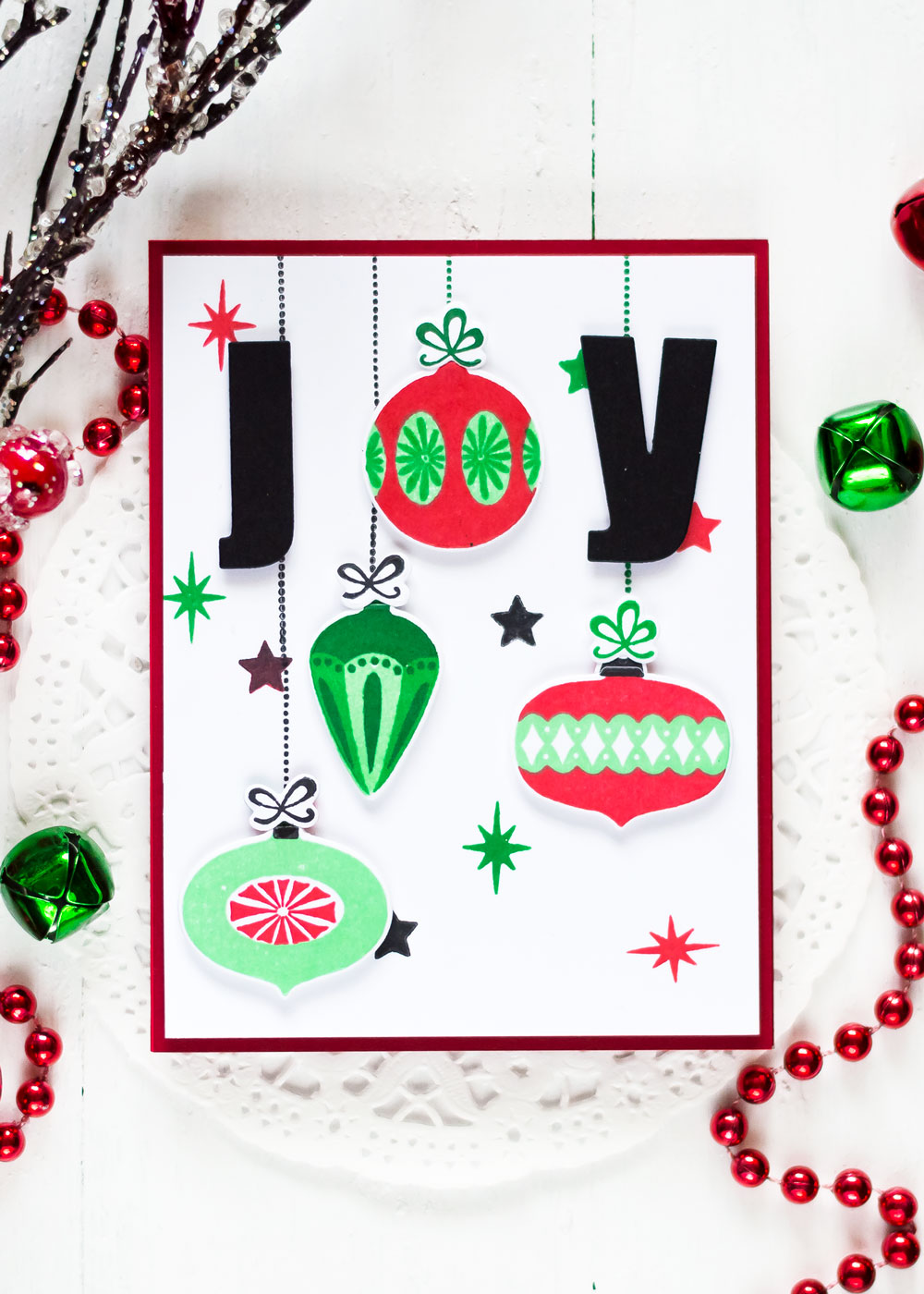 Altenew Brillian Baubles Stamp Focus. Card by Svitlana Shayevich