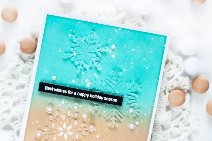 Altenew Layered Snowflakes. Card by Svitlana Shayevich