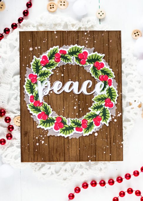 Altenew Peaceful Wreath. Card by Svitlana Shayevich