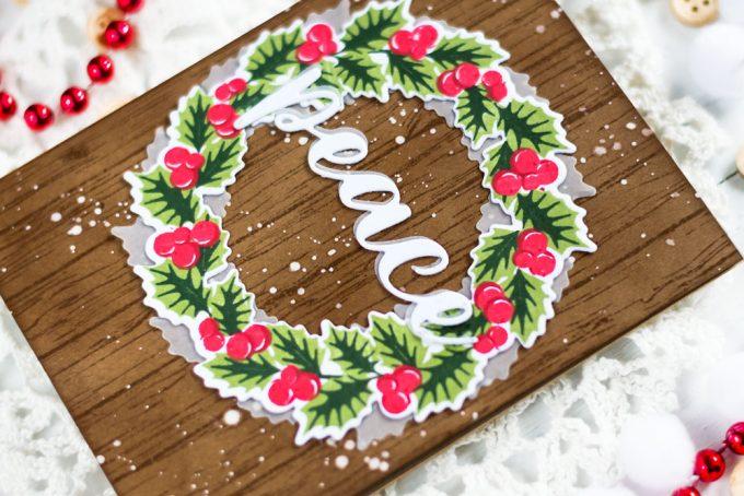Altenew Peaceful Wreath. Card by Svitlana Shayevich