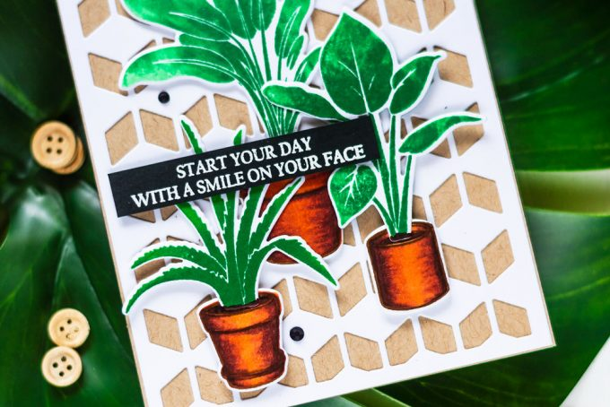 Altenew Potted Plants. Card by Svitlana Shayevich