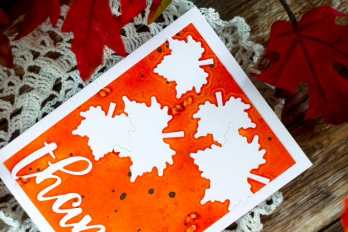 Altenew With Gratitude. Fall card, die-cut inlay. Card by Svitlana Shayevich