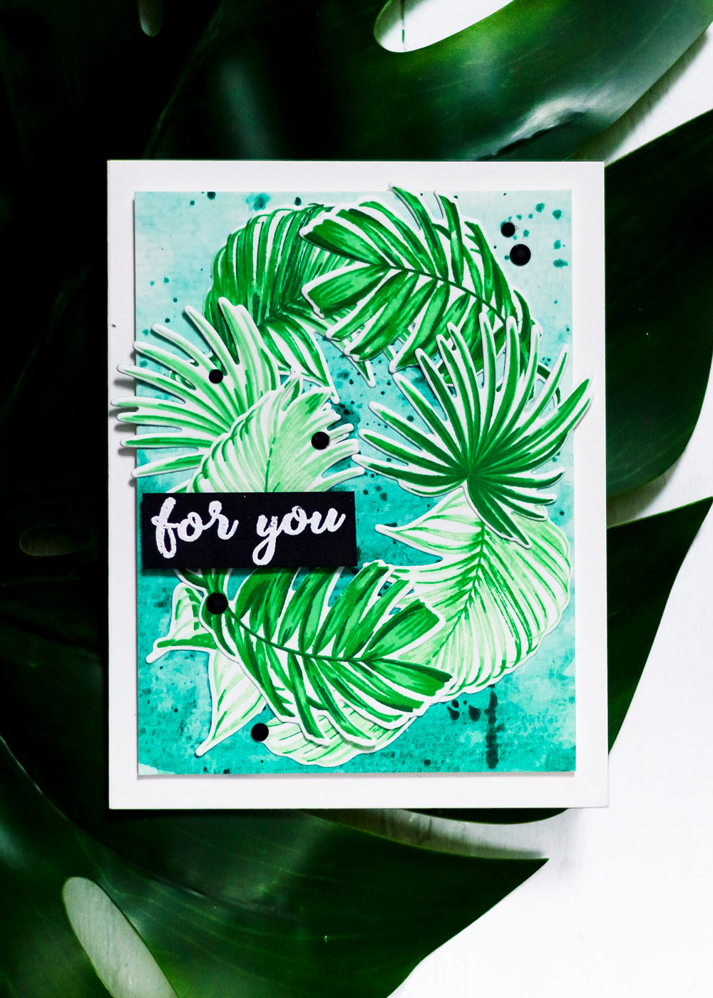 Altenew Wild Ferns. Card by Svitlana Shayevich