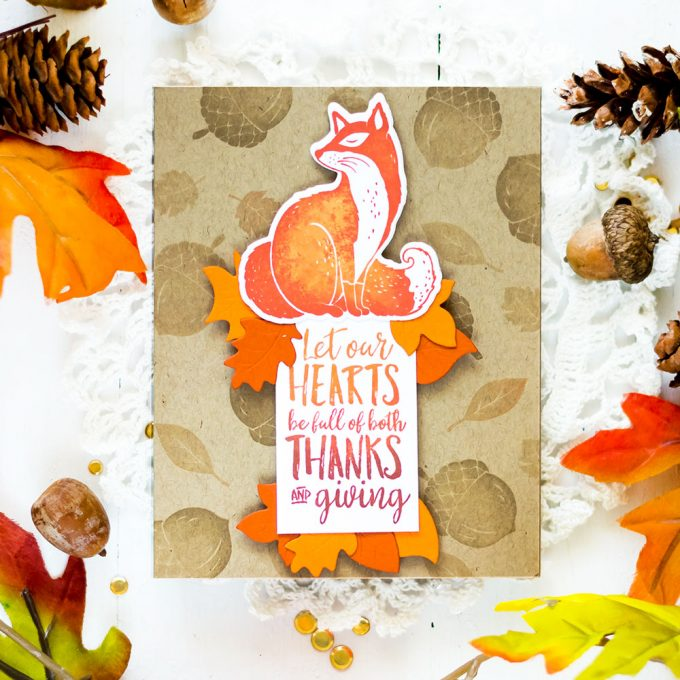 Fall card with Spellbinders Wreath Elements and FSJ Thankful Friends. Card by Svitlana Shayevich