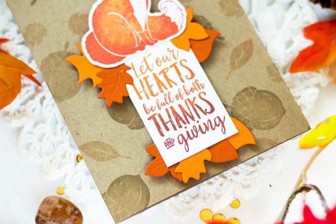 Fall card with Spellbinders Wreath Elements and FSJ Thankful Friends. Card by Svitlana Shayevich