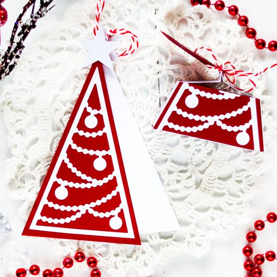 Spellbinders Large Die of the Month November. Spellbinders Large Die of the Month November. Everything Under the Tree. Christmas Tag and Gift Box. Projects by Svitlana Shayevich